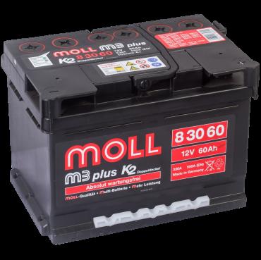 аккумулятор автомобильный Moll M3 Plus 60 R+ 60 Ач 550 А