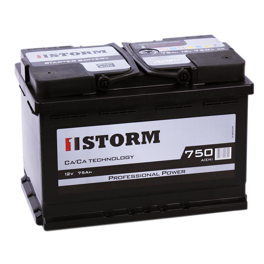Аккумулятор автомобильный Storm 75R