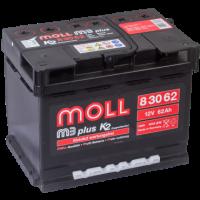 аккумулятор автомобильный Moll M3 Plus 62 R+ 62 Ач 600 А