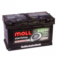 аккумулятор автомобильный Moll Start-Stop EFB 80R+